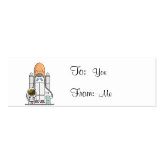 Little Astronaut & Spaceship Business Cards