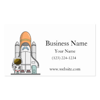 Little Astronaut & Spaceship Business Card Template