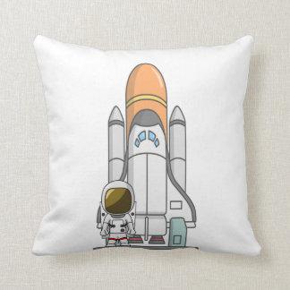 Little Astronaut & Spaceship Cushion