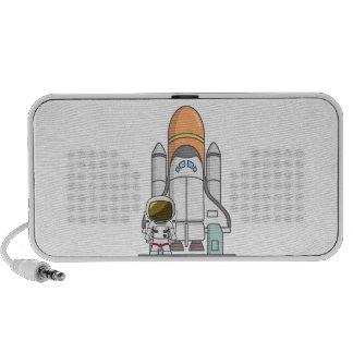 Little Astronaut & Spaceship Notebook Speaker