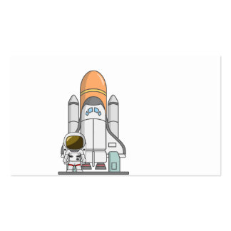 Little Astronaut & Spaceship Pack Of Standard Business Cards