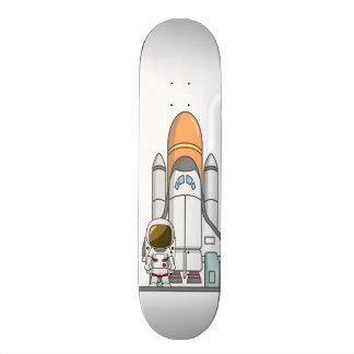 Little Astronaut & Spaceship 19.7 Cm Skateboard Deck