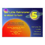Little Astronomer Custom Birthday Invitation