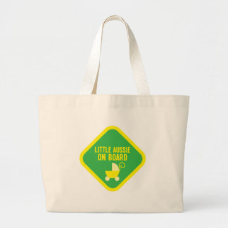Little Aussie on Board on a sign Jumbo Tote Bag