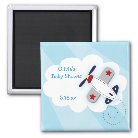 Little Baby Aviator Square Favour Magnet
