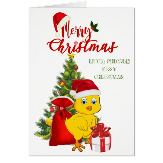 Little Baby Chicken Christmas Card