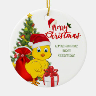 Little Baby Chicken Christmas Christmas Ornament