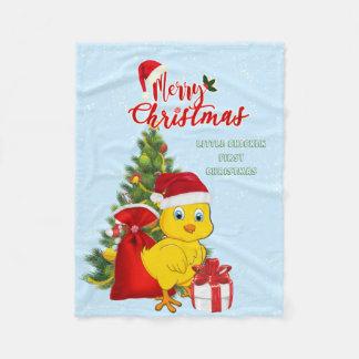 Little Baby Chicken Christmas Fleece Blanket