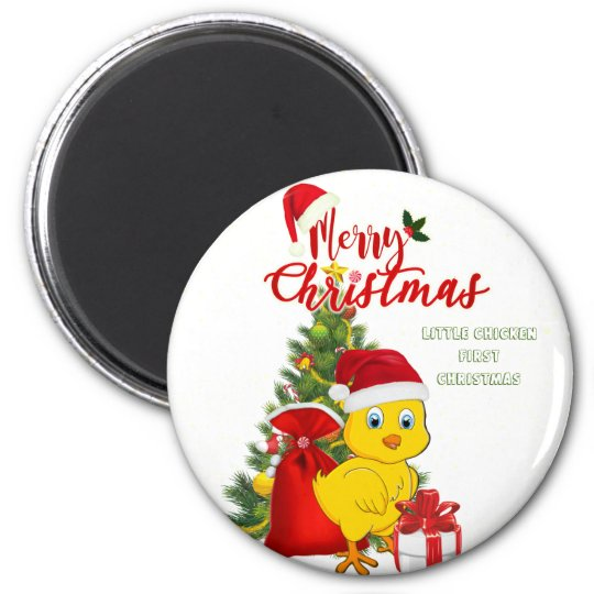 Little Baby Chicken Christmas Magnet