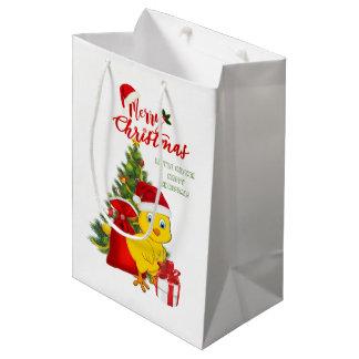 Little Baby Chicken Christmas Medium Gift Bag