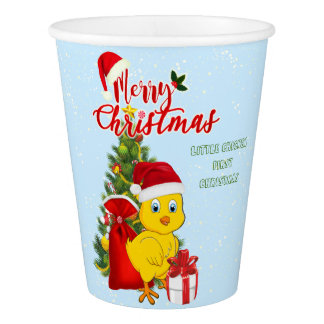 Little Baby Chicken Christmas Paper Cup