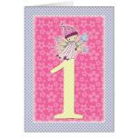 Little Baby Fairy First Birthday Greeting Card