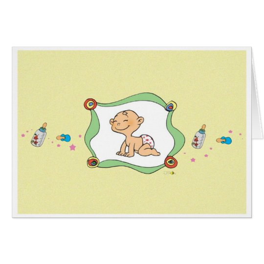 Little baby greeting card