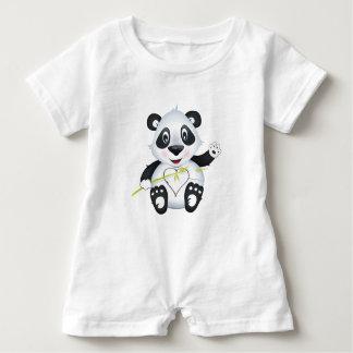 'Little Baby Love Seal' Panda Character Romper Baby Bodysuit
