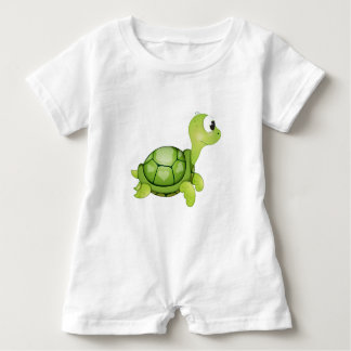 'Little Baby Love Seal' Turtle Character Romper Baby Bodysuit