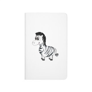 'Little Baby Love Seal' Zebra Character Notebook