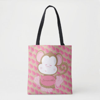 Little Baby Monkey Personalized Tote Bag
