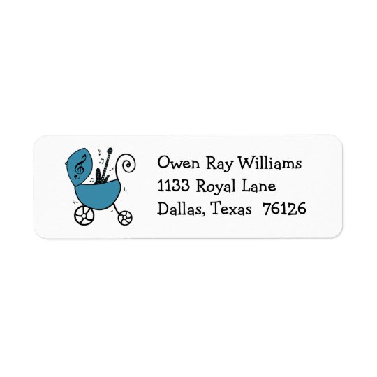 Little Baby Rock Star Address Labels