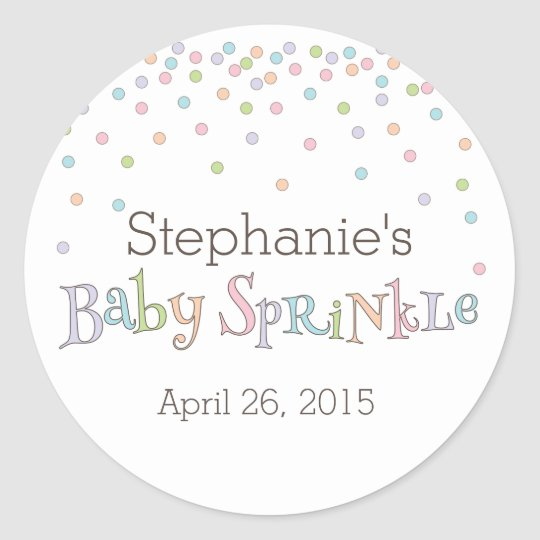 Little Baby Sprinkle Confetti Shower Favour Classic Round