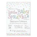 Little Baby Sprinkle Confetti Shower Invitation 13 Cm X 18 Cm Invitation Card