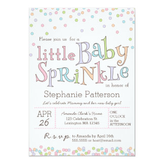 Little Baby Sprinkle Confetti Shower Invitation
