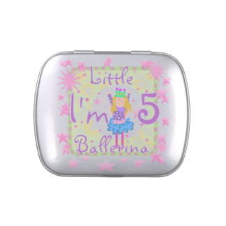 Little Ballerina 5th Birthday Candy Tins and Jars