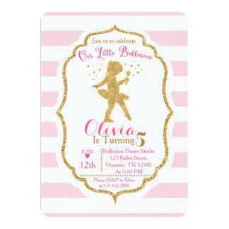 Little Ballerina Pink & Gold Invitation