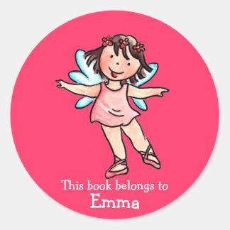 Little Ballet Angel Girl Book Sticker