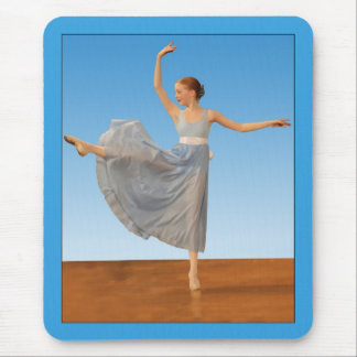 Little Ballet Dancer in Blue Mouse Pad