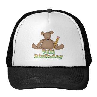 Little Bear 5th Birthday Gifts Cap