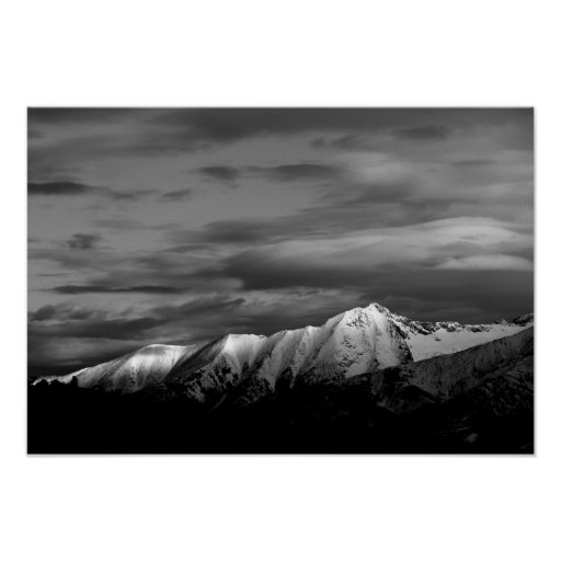 Little Bear Peak in Winter Poster