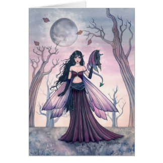 LIttle Beast Fairy Dragon Card by Molly Harrison
