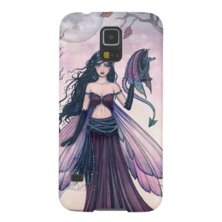 Little Beast Purple Fairy and Dragon Fantasy Art Cases For Galaxy S5