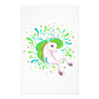 Little beautiful unicorn stationery