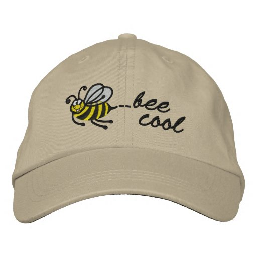 Little Bee - bee cool - Cap Embroidered Baseball Caps