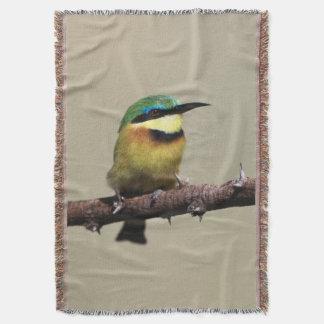 Little Bee-eater Throw Blanket