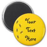 Little Bees 6 Cm Round Magnet
