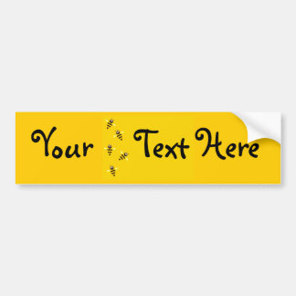 Little Bees Bumper Sticker