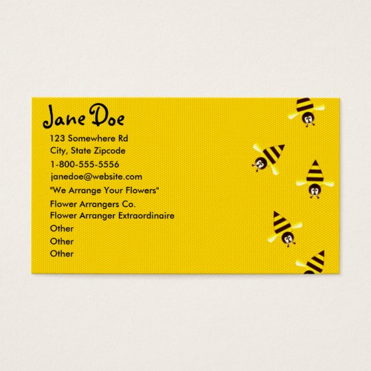 Little Bees Themed Business Cards