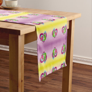 little best friends - unicorn and dragon short table runner