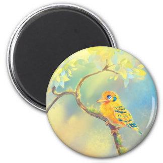 Little Bird 6 Cm Round Magnet