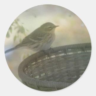 Little Bird Distressed Round Stickers