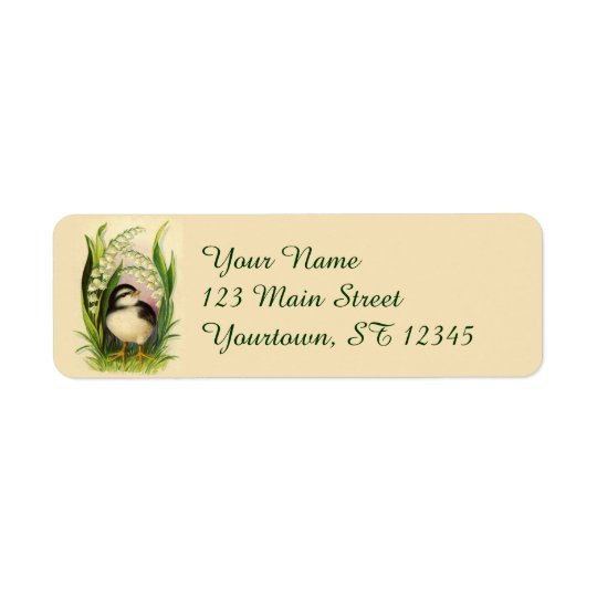 Little Bird Easter Return Address Labels