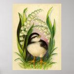 Little Bird Vintage Poster