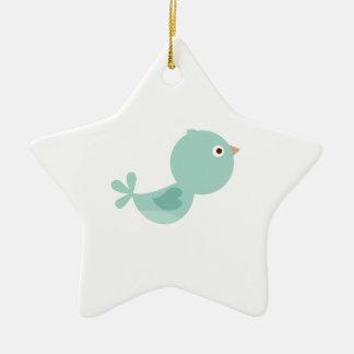 LITTLE BIRDIE CERAMIC STAR DECORATION