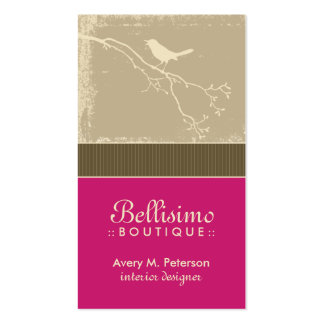 Little Birdie Custom Business Cards (fuchsia)