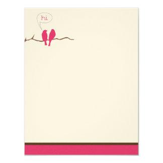 Little Birdies Flat Note Cards (Golden Globes) 11 Cm X 14 Cm Invitation Card