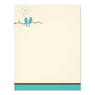 Little Birdies Flat Note Cards (Oscars) 11 Cm X 14 Cm Invitation Card