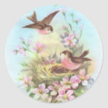 Little Birdies Round Sticker