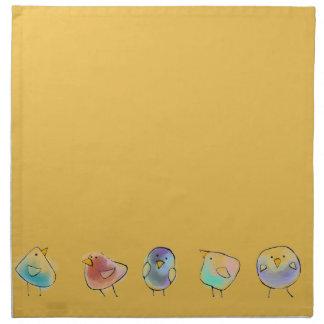 Little Birds Cloth Napkins